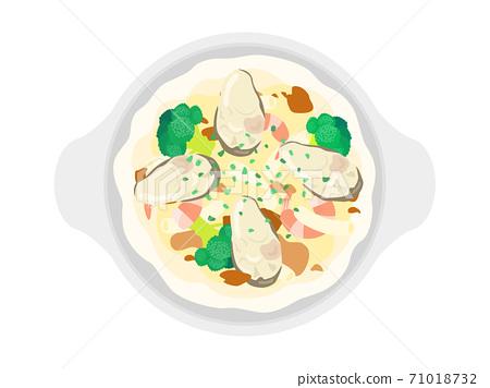 牡蠣焗烤的插圖 71018732