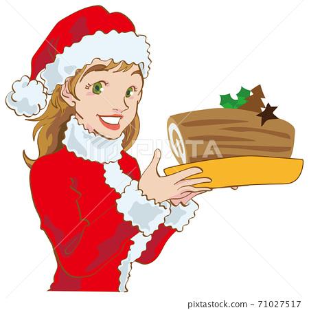 西方女人與布什·多諾埃爾在聖誕節 71027517