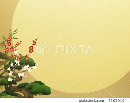 송죽매와 금박의 일본식 프레임 - 여러 종류가 있습니다 71030194