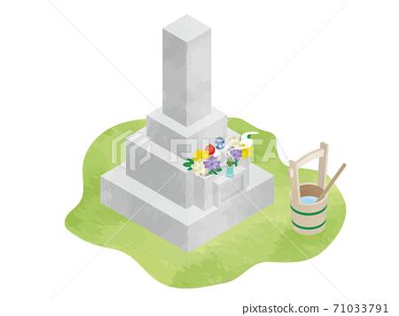 焚燒供香的墳墓(參觀日本墳墓) 71033791