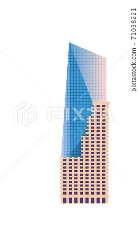 Skyscraper build architecture isolate on white 71038221