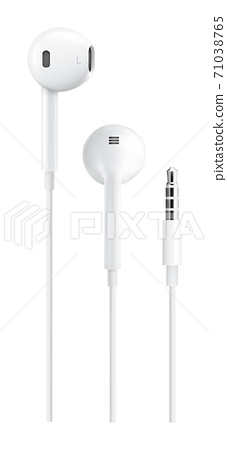 Realistic earphone earbud with wire connector 71038765