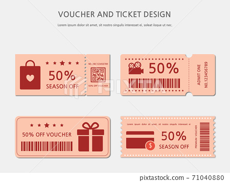 Ticket, Voucher, Gift Certificate 71040880