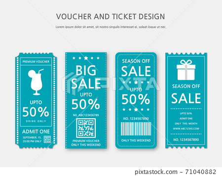 Ticket, Voucher, Gift Certificate 71040882