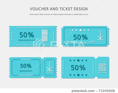 Ticket, Voucher, Gift Certificate 71040886