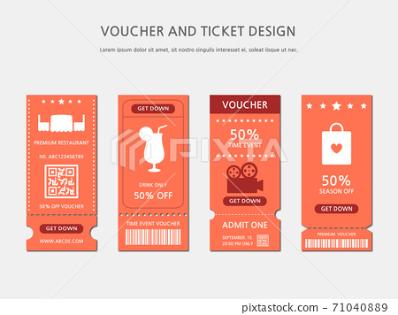 Ticket, Voucher, Gift Certificate 71040889