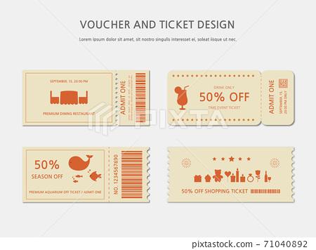 Ticket, Voucher, Gift Certificate 71040892