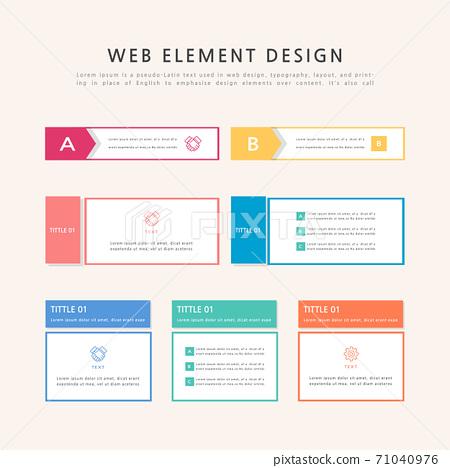 Infographic, label, element, web source, web element 71040976