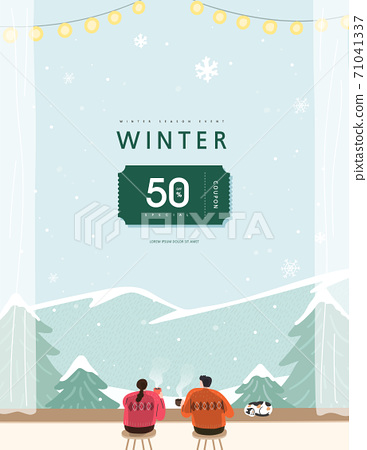 winter, shopping,banner, discount, sale, event, template 71041337