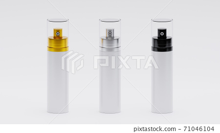 Perfume bottles various color 3d realistic set on white background  71046104