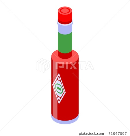 Mexican ketchup bottle icon, isometric style 71047097