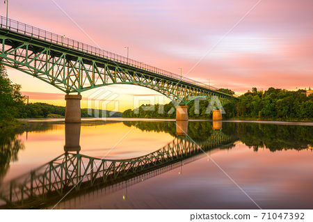 Augusta, Maine, USA view on the Kennebec River 71047392