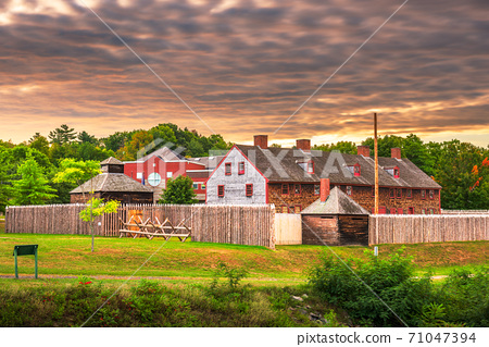 Augusta, Maine, USA at historic Fort Western 71047394