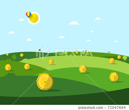 Autumn or Late Summer Field - Vector 71047664