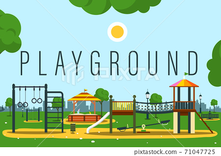 Empty Playground Vector Illustration 71047725