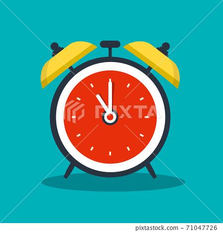 Alarm Clock Vector Icon - Analog Timer 71047726
