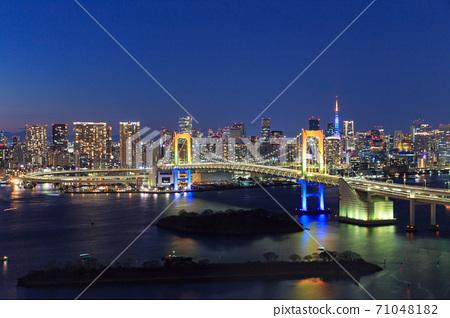 도쿄 _ 오다이바 야경 야경 71048182