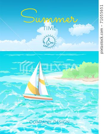 Colorfull poster summertime 71055651