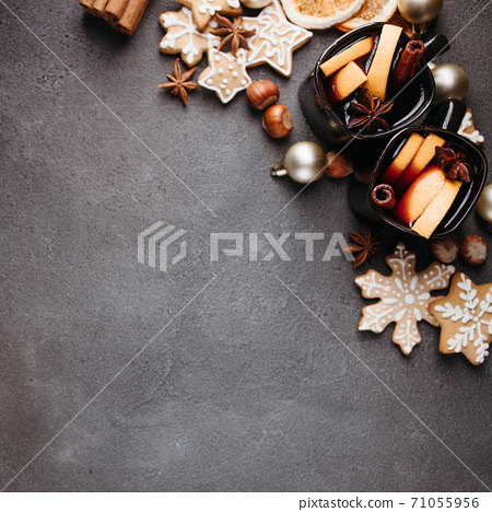 Christmas and New Year decorative composition 71055956