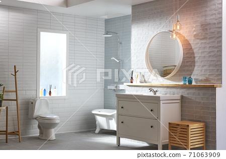 浴室,洗臉池,淋浴,淋浴間 71063909