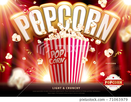 Light and crunchy popcorn ads 71063979