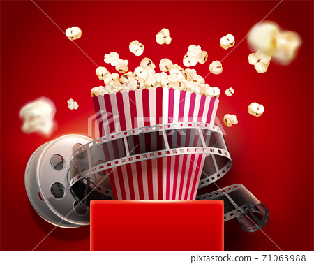 Popcorn box with cinema reel 71063988