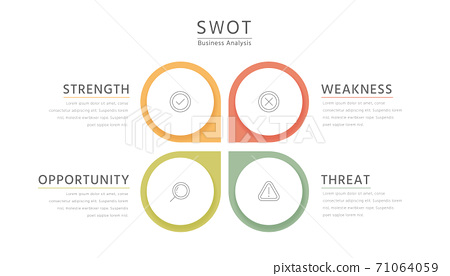 Colorful flat SWOT infographic 71064059