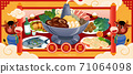 Chinese dishes for the year of cow 71064098