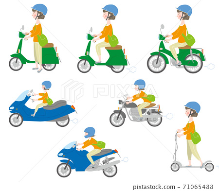 女套騎兩輪車的頭盔 71065488
