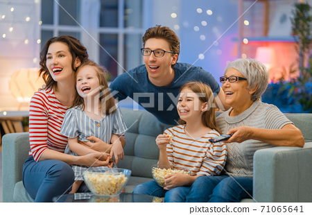 Happy family spending time together. 71065641