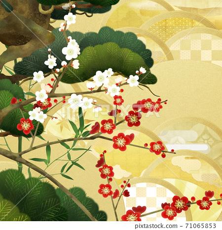경사스러운 분위기의 일본식 배경 - 여러 종류가 있습니다 71065853