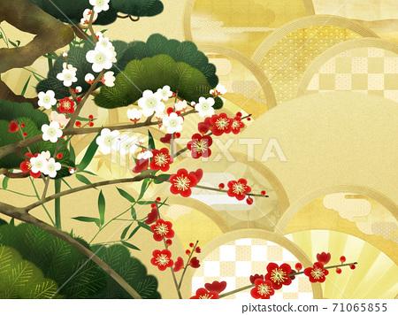 경사스러운 분위기의 일본식 배경 - 여러 종류가 있습니다 71065855