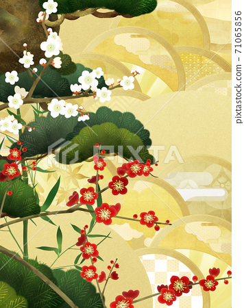 경사스러운 분위기의 일본식 배경 - 여러 종류가 있습니다 71065856