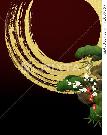 송죽매와 금박의 일본식 배경 - 여러 종류가 있습니다 71065957