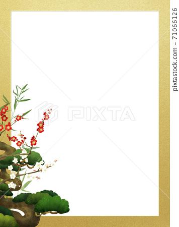 송죽매와 금박의 일본식 프레임 - 여러 종류가 있습니다 71066126