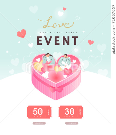 Valentine, shopping,event,banner,event day 71067657
