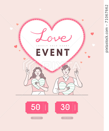 Valentine, shopping,event,banner,event day 71067662