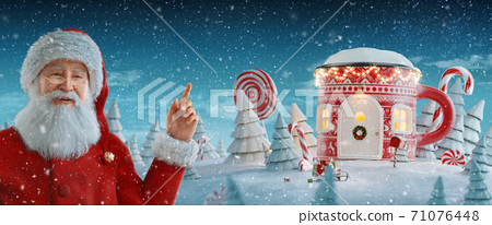 Merry Christmas and a Happy new year concept 71076448