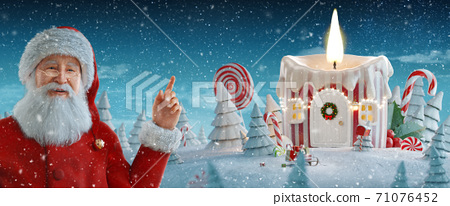 Merry Christmas and a Happy new year concept 71076452