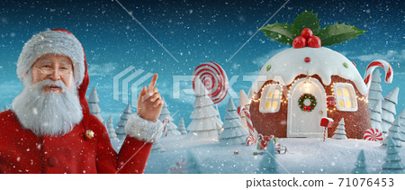 Merry Christmas and a Happy new year concept 71076453