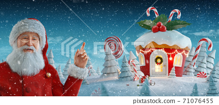 Merry Christmas and a Happy new year concept 71076455