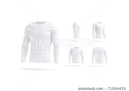 Blank white longsleeve t-shirt mock up, different views 71084458