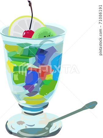 多彩的糖果和水果拳的插圖 71086191