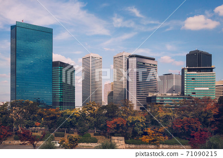 Autumn skyline of Osaka Business Park, Japan 71090215