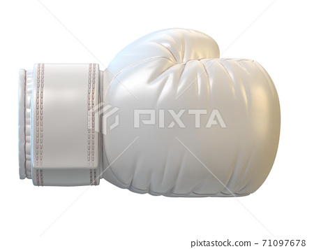 White boxing glove isolated on white background 3d rendering 71097678