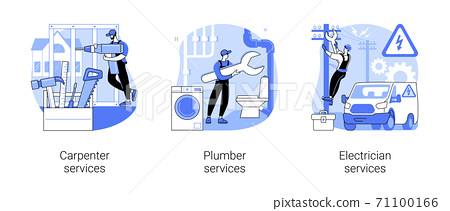 Home renovation abstract concept vector illustrations. 71100166