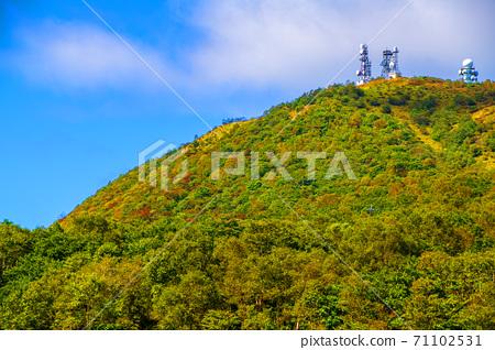 현립 아카기 공원 누마 호반의 경관 地蔵岳 방면 초가을의 풍경 71102531