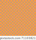화려한 체크 무늬 배경 또는 도트 무늬 오렌지, 그레이 71103821