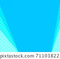 파란색과 하늘색 물방울과 무지의 복사 공간 배경 71103822