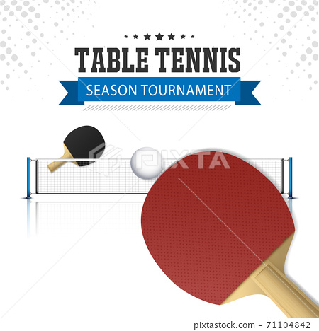 Ping Pong or table Tennis tournament. poster or banner vector template design EPS10. 71104842